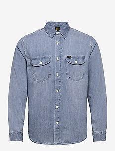 WORKER SHIRT - denim shirts - frost blue