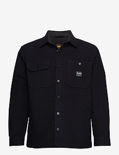 BOX POCKET OVERSHIRT - overdeler - black