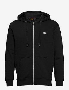 BASIC ZIP THROUGH HO - hoodies - black