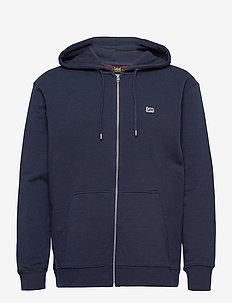 BASIC ZIP THROUGH HO - hoodies - navy