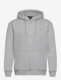 BASIC ZIP THROUGH HO - hoodies - grey mele