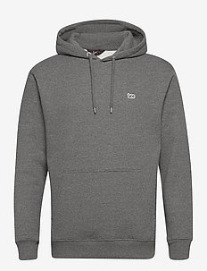 PLAIN HOODIE - basic sweatshirts - dark grey mele