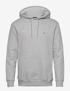PLAIN HOODIE - basic sweatshirts - grey mele