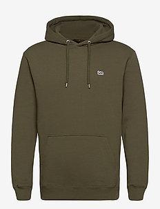 PLAIN HOODIE - basic sweatshirts - olive green