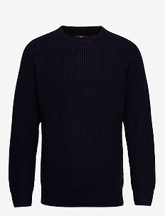 CHUNKY CREW NECK - MIDNIGHT NAVY