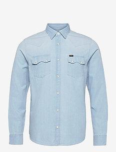 LEE RIDER SHIRT - basic shirts - summer blue