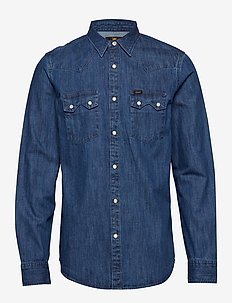 LEE RIDER SHIRT - farkkupaidat - dipped blue