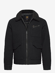 191J WOOL JACKET - uldjakker - black