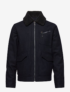 191J WOOL JACKET - wolljacken - midnight navy