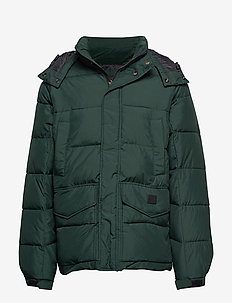 PUFFER JACKET - DK BOTTLE GREEN
