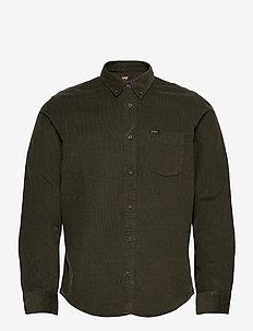 LEE BUTTON DOWN - basic shirts - serpico green