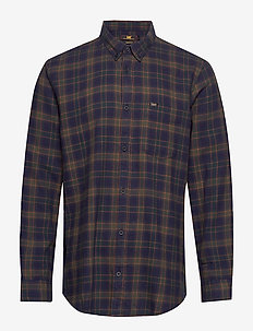 LEE BUTTON DOWN - DK BOTTLE GREEN