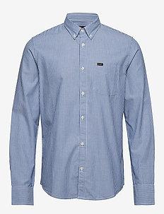 LEE BUTTON DOWN - avslappede skjorter - oil blue