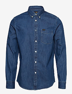 LEE BUTTON DOWN - DIPPED BLUE