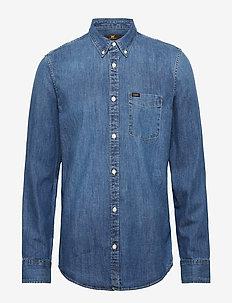 LEE BUTTON DOWN - denimskjorter - oil blue