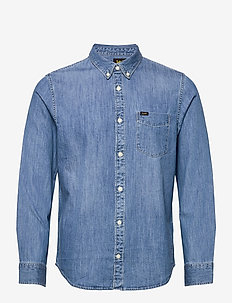 LEE BUTTON DOWN - denim shirts - tide blue