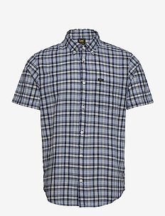 LEE BUTTON DOWN SS - checkered shirts - washed blue