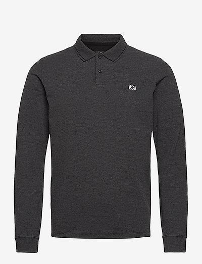 LS PIQUE POLO - long-sleeved polos - dark grey mele