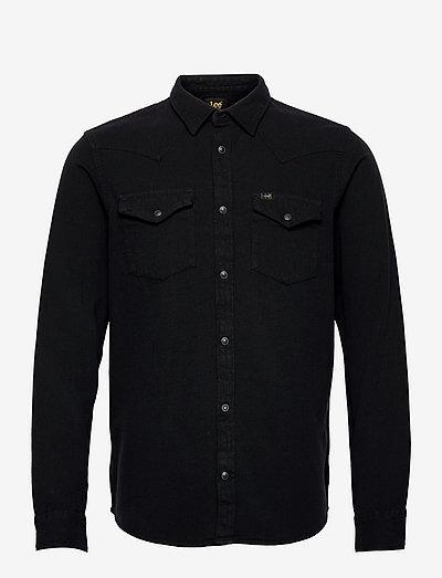 REGULAR WESTERN - basic shirts - black