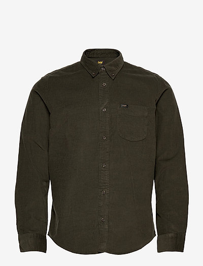 LEE BUTTON DOWN - denim shirts - serpico green