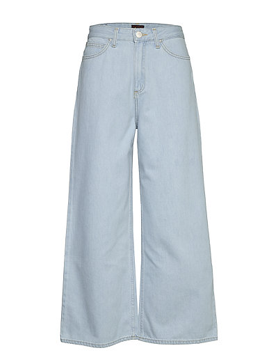Cropped A Line Flare Jeans Mit Weitem Bein Loose Fit Blau LEE JEANS