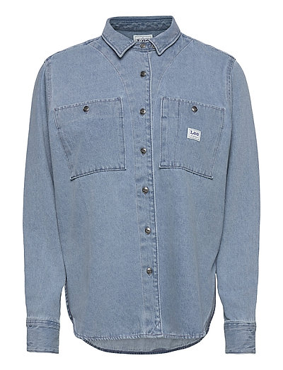 Worker Shirt Langärmliges Hemd Blau LEE JEANS