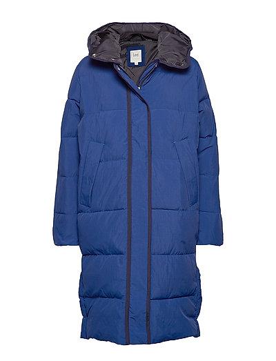 Long Puffer Gefütterter Mantel Blau LEE JEANS