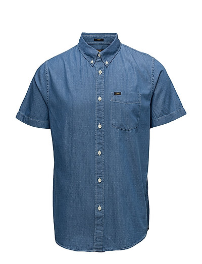 LEE BUTTON DOWN SS - MEDIEVAL BLUE
