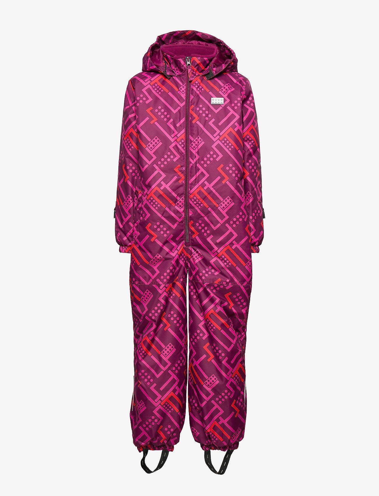Lego wear - LWJORDAN 701 - SNOWSUIT - snowsuit - bordeaux - 1