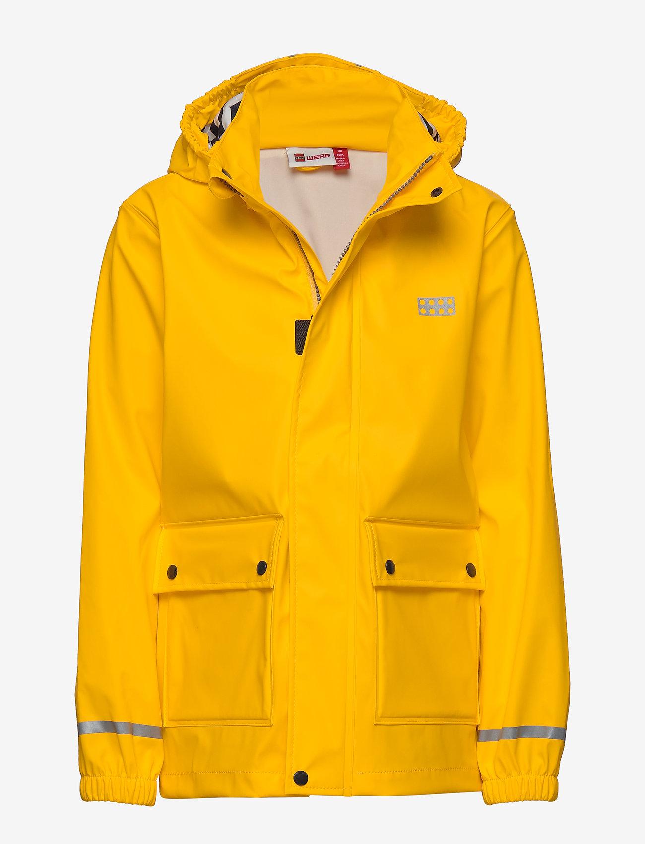 Lego wear - LWJOSHUA 212 - RAIN JACKET - vestes - dark yellow - 0