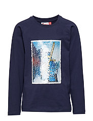 LWTIGER 652 - T-SHIRT L/S - DARK NAVY