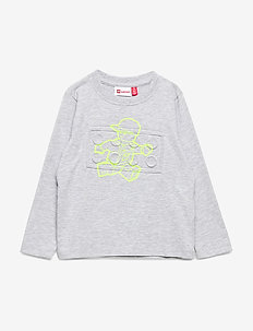 LWTOBIAS 107 - T-SHIRT L/S - cartoon - grey melange
