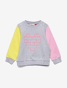 LWSUN 301 - SWEATSHIRT - sweat-shirt - grey melange