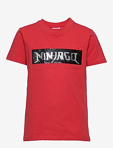 LWTOBIAS 303 - T-SHIRT S/S - logo - red