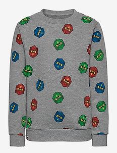 M-22673 - SWEATSHIRT - sweatshirts - grey melange