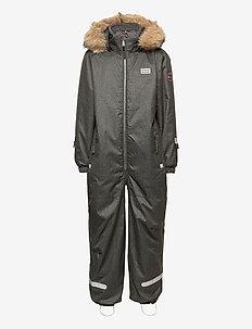 LWJIPE 707 - SNOWSUIT - snowsuit - grey melange