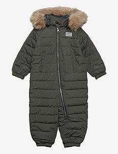 LWJUNIN 708 - SNOWSUIT - snowsuit - dark khaki