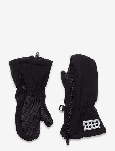 LWARIPO 702 - MITTENS SOFTSHEL - handschuhe - black
