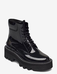 SHARON 01 - flade ankelstøvler - black