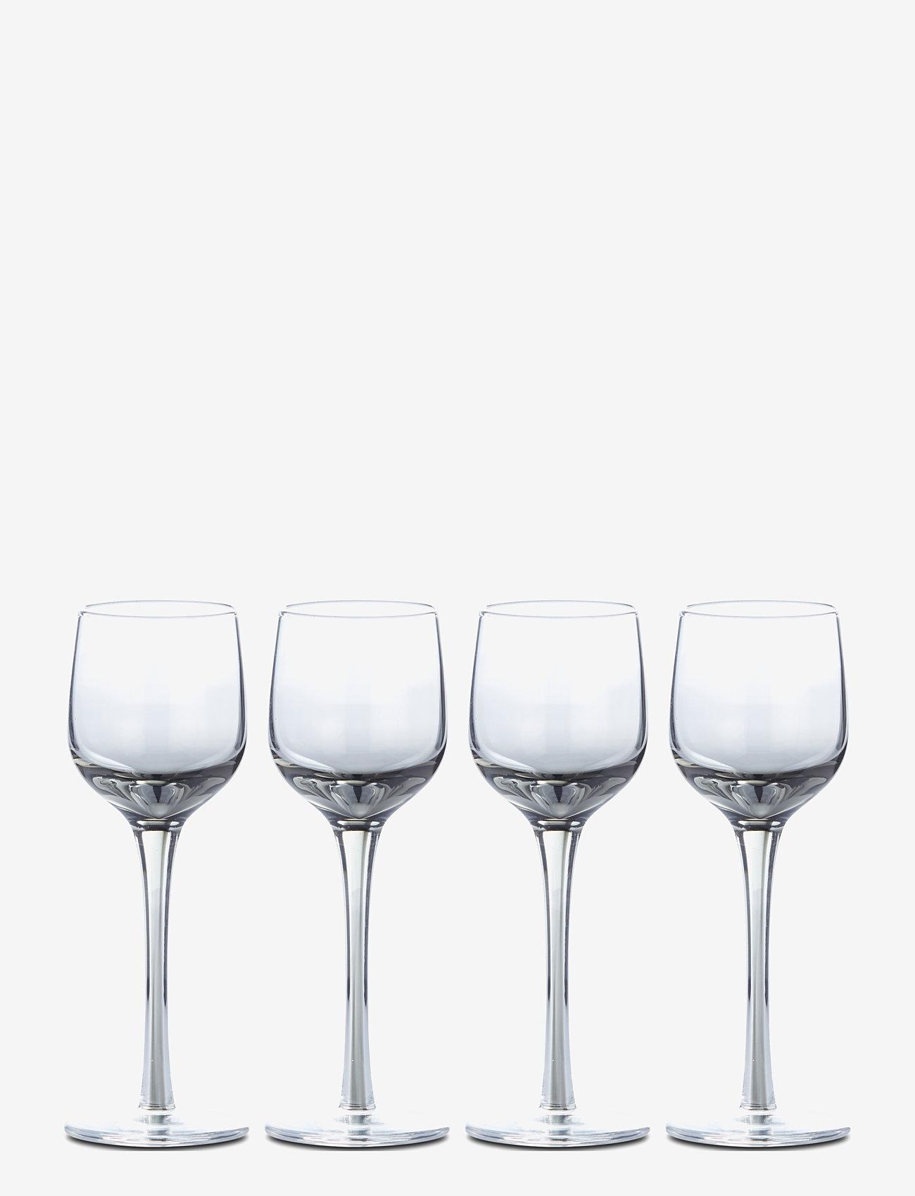 Lene Bjerre - Victorinne liqueur glass 6 cl.    4-pack - whiskyglass & cognacglass - smoke - 0