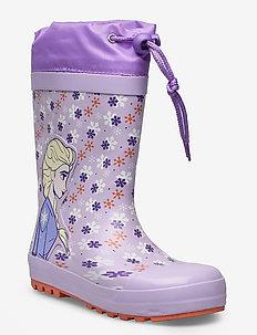 FROZEN2 Rainboots - gummistøvler med linjer - lilac