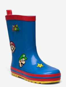 SUPERMARIO Rainboots - gummistøvler uten linjer - cobalt blue/red