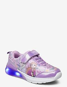 frozen sneaker with lights - niedriger schnitt - lilac