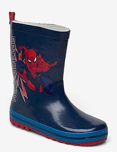 spiderman rainboot - gummistiefel - navy