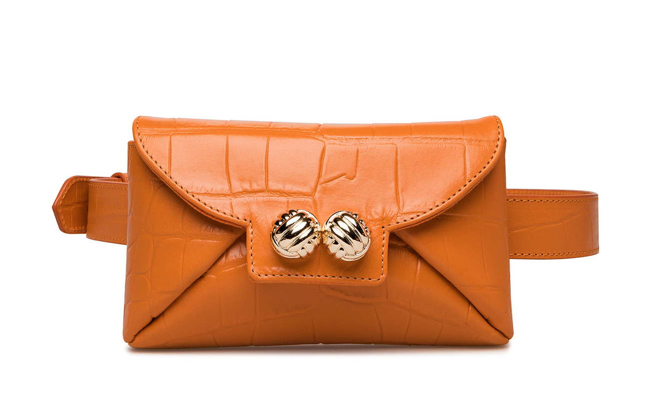 Cuir Inner Doublure Bag Coton Extérieure Leowulff Coquille Orange Tiny 100 87n80qRYx