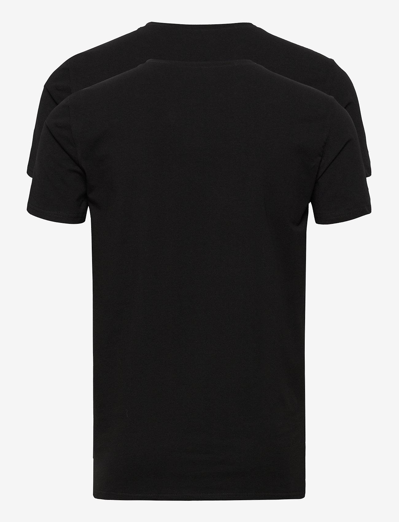 Les Deux - Les Deux Basic T-Shirt - 2-Pack - basic t-shirts - black - 1