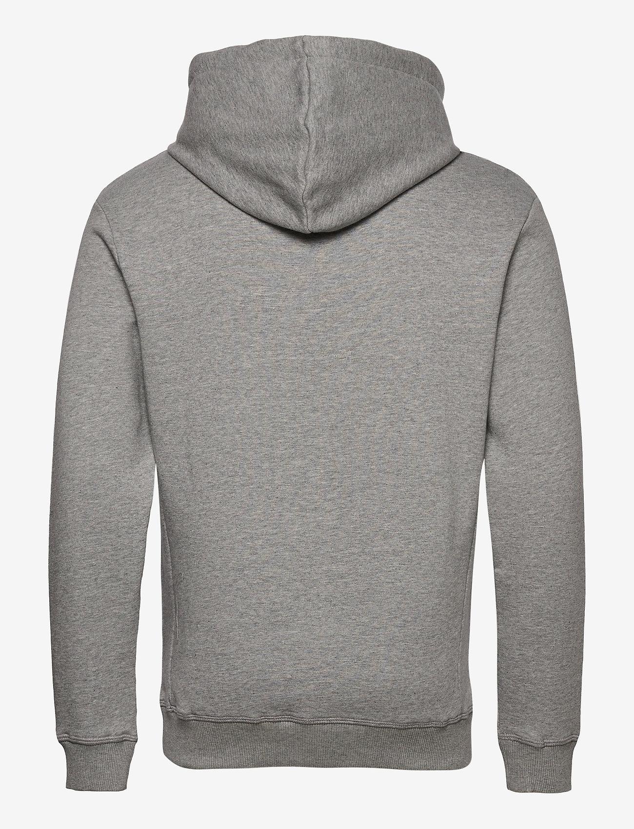 Les Deux Boozt Piece Hoodie - Sweatshirts LIGHT GREY MELANGE/CHARCOAL-BLACK - Menn Klær