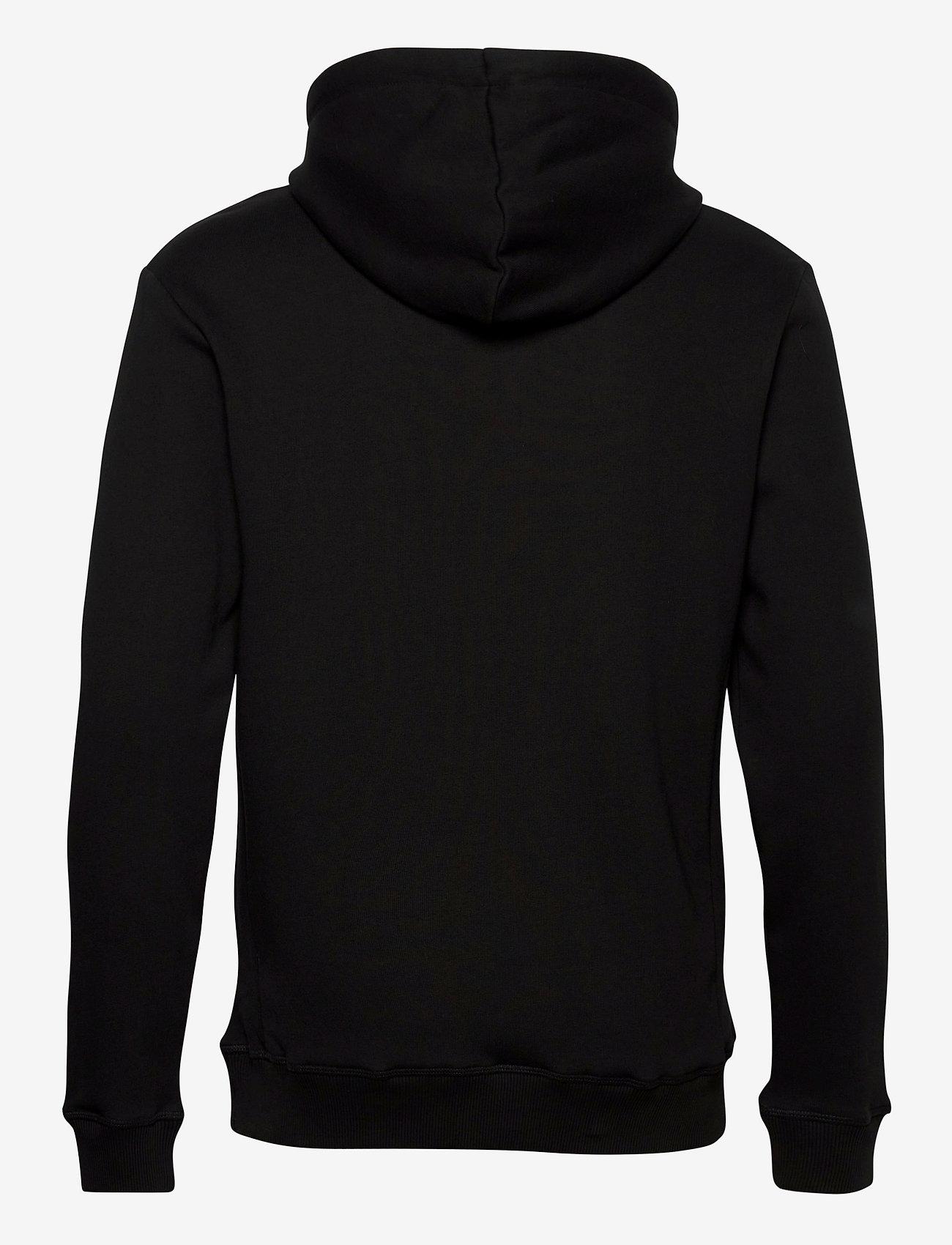 Les Deux Boozt Piece Hoodie - Sweatshirts BLACK/ORANGE-BLACK - Menn Klær