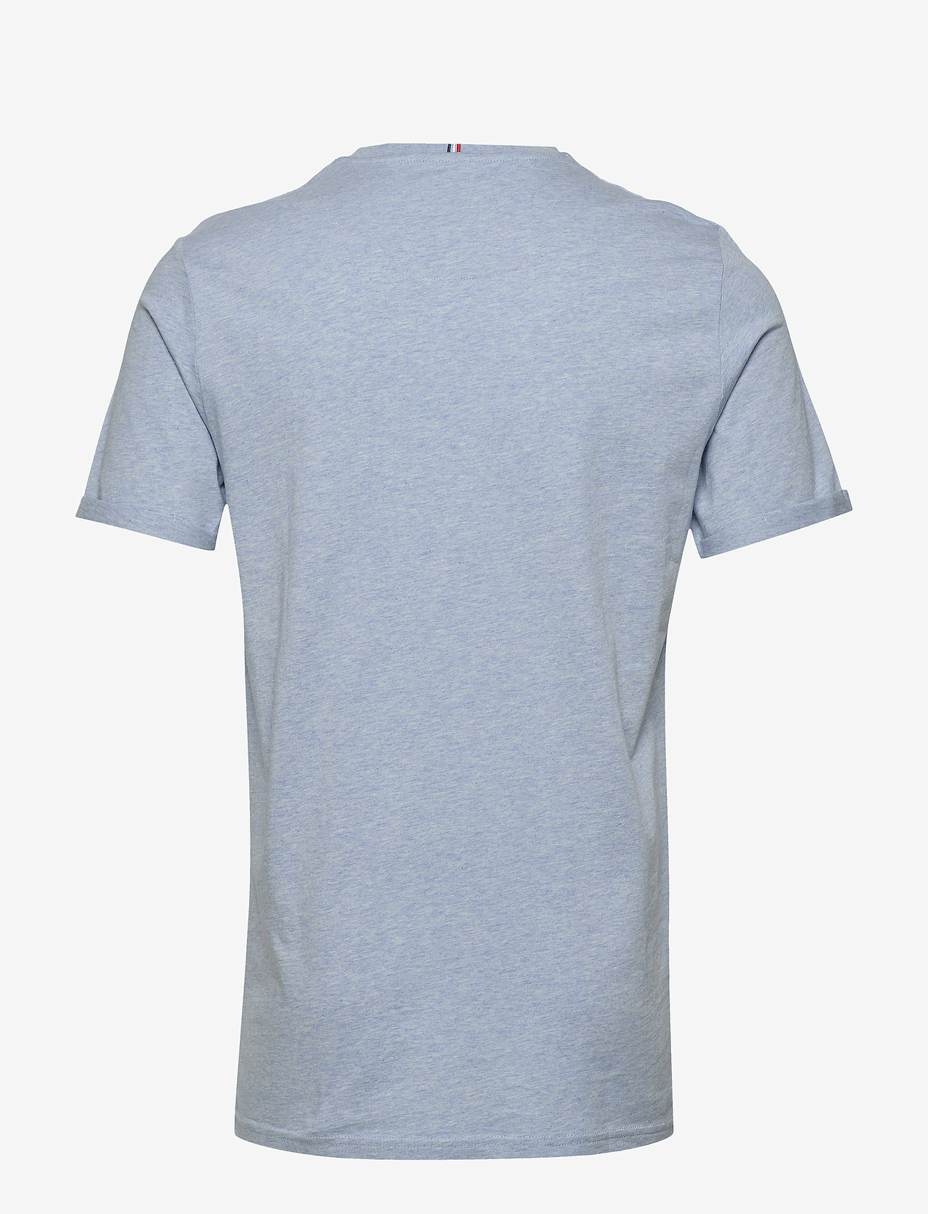Les Deux Nørregaard T-Shirt - T-skjorter LIGHT BLUE MELANGE/ORANGE - Menn Klær