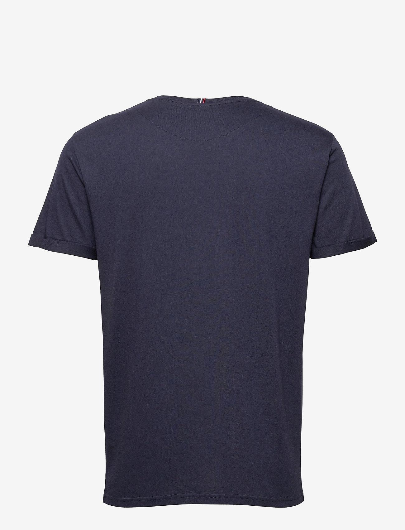 Les Deux - Encore Bouclé T-Shirt - korte mouwen - dark navy/ivory - 1